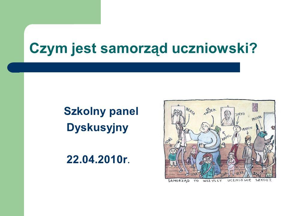 Szkolny panel Dyskusyjny 22.04.2010r.