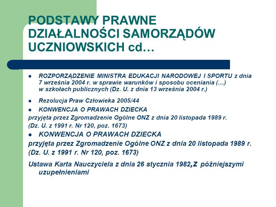 Samorząd Uczniowski Samorząd uczniowski tworzą wszyscy uczniowie szkoły.