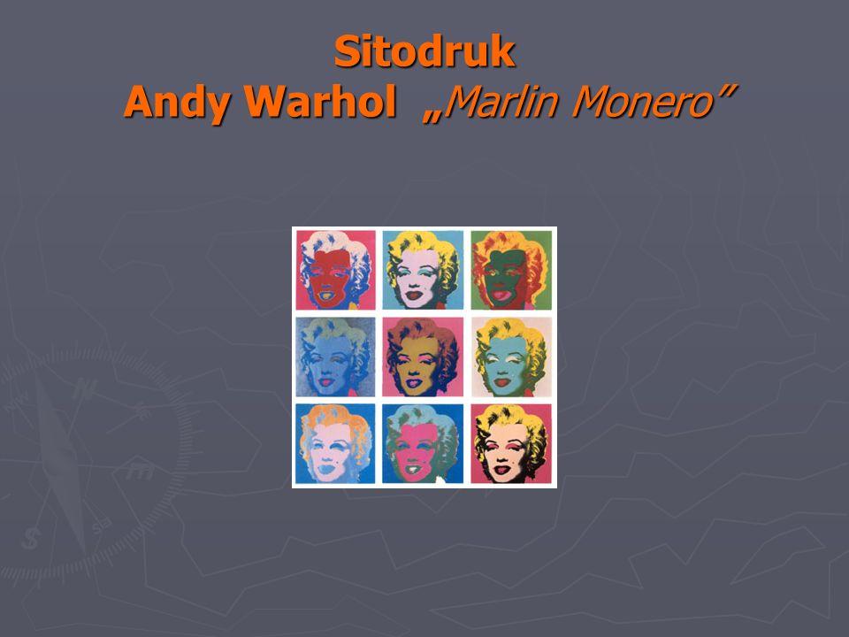 Sitodruk Andy Warhol Marlin Monero