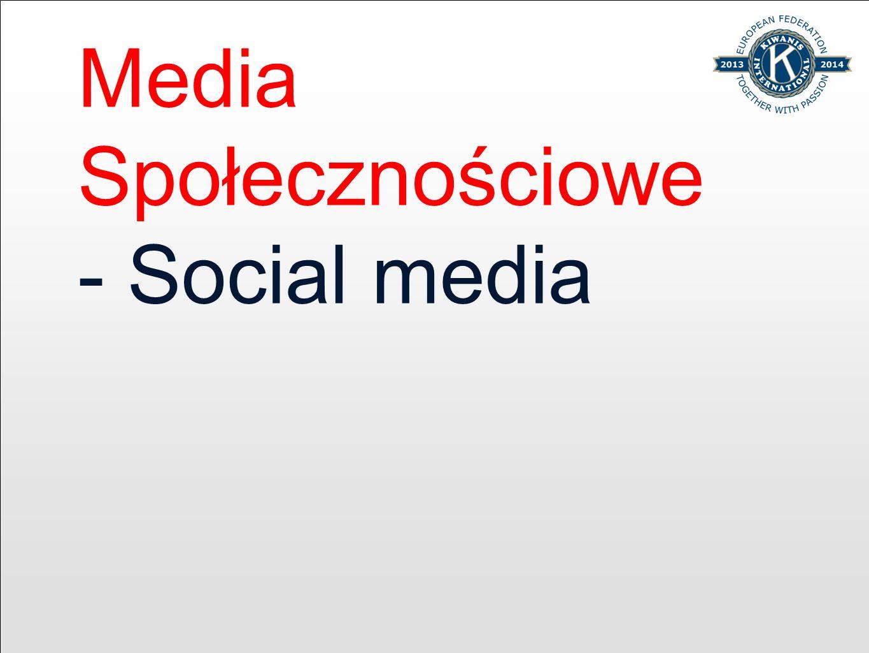 Media Społecznościowe - Social media
