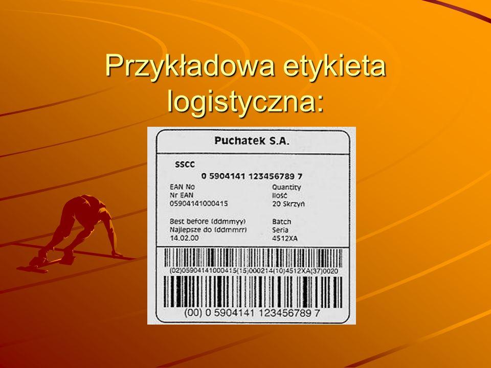 Przykładowa etykieta logistyczna: