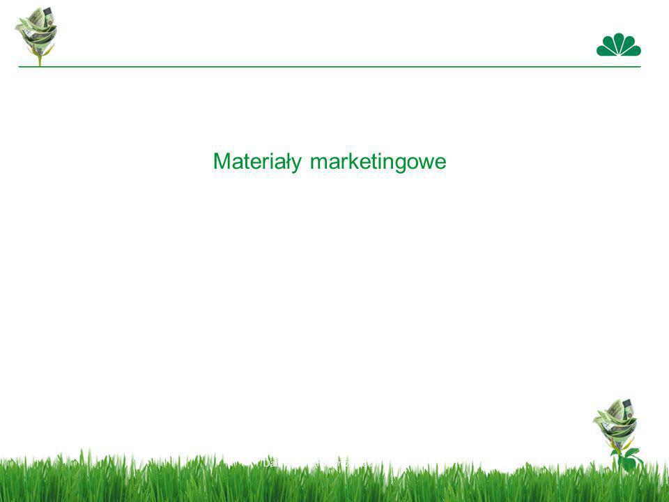 Data stworzenia prezentacji Materiały marketingowe