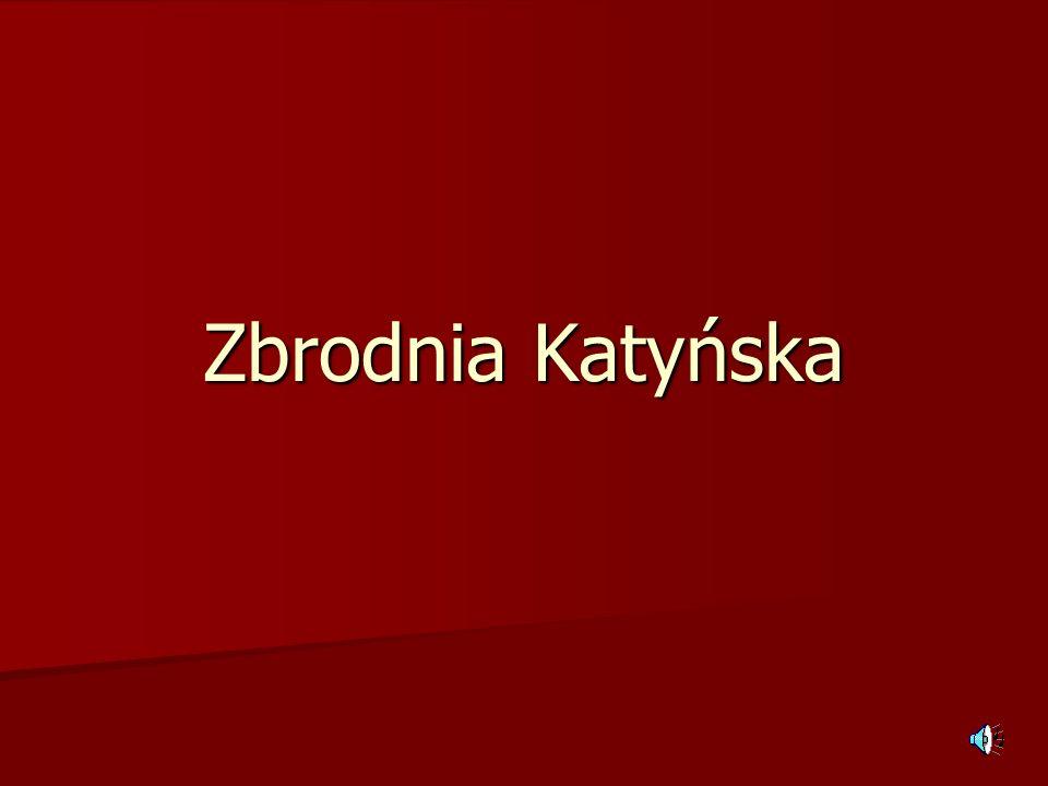 Spis treści Opis zbrodni Katyńskiej Opis zbrodni Katyńskiej Wstęp do wydarzeń – polscy jeńcy w ZSRR Wstęp do wydarzeń – polscy jeńcy w ZSRR Decyzja o wymordowaniu Decyzja o wymordowaniu Motywy decyzji wymordowania Motywy decyzji wymordowania Zagłada Zagłada Pierwszy okres ukrywania zbrodni Pierwszy okres ukrywania zbrodni Wykrycie grobów katyńskich Wykrycie grobów katyńskich Fałszowanie i zatajanie zbrodni Fałszowanie i zatajanie zbrodni Proces norymberski Proces norymberski Wielka Brytania i USA Wielka Brytania i USA Polska Polska Oficjalne ujawnienie Oficjalne ujawnienie Suwerenne obiektywne śledztwa Suwerenne obiektywne śledztwa ZSRR/Rosja, Białoruś, Ukraina ZSRR/Rosja, Białoruś, Ukraina Miejsca pamięci Miejsca pamięci Domniemane nowe miejsca zbrodni Domniemane nowe miejsca zbrodni Zakończenie Zakończenie