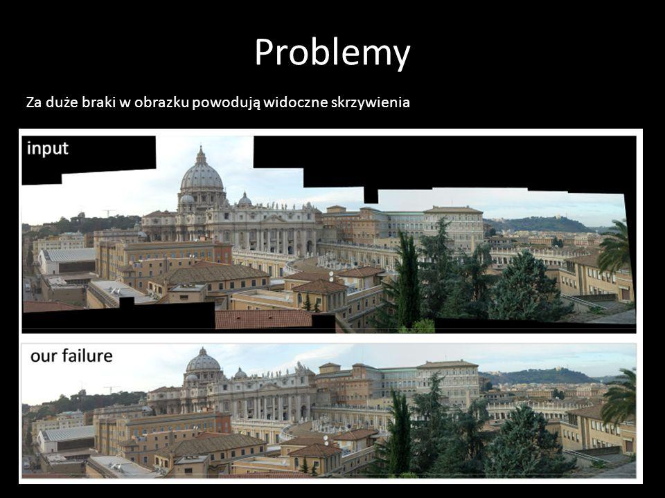 Problemy Za duże braki w obrazku powodują widoczne skrzywienia