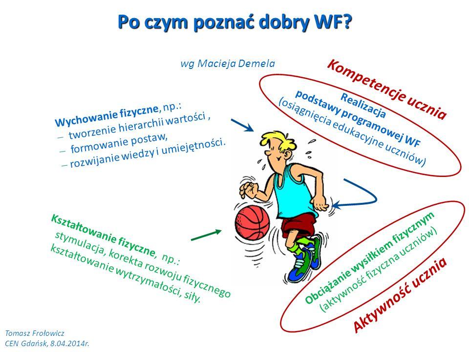 Po czym poznać dobry WF? Wychowanie fizyczne, np.: tworzenie hierarchii wartości, formowanie postaw, rozwijanie wiedzy i umiejętności. Kształtowanie f