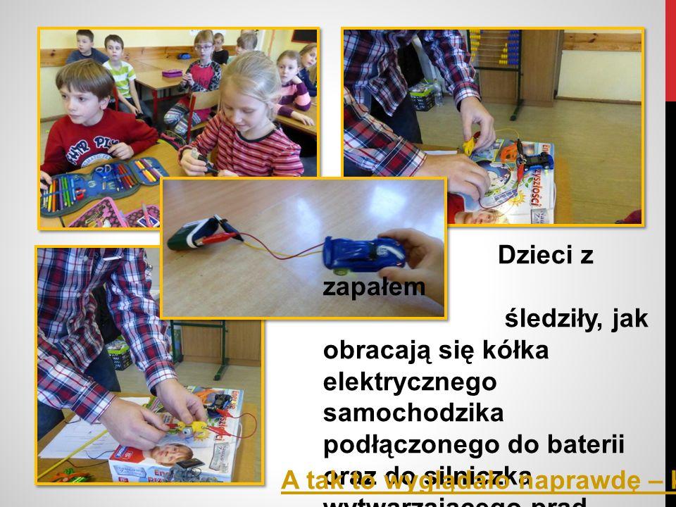 Po wypowiedziach dzieci na temat: Skąd się bierze prąd elektryczny w mieszkaniu.
