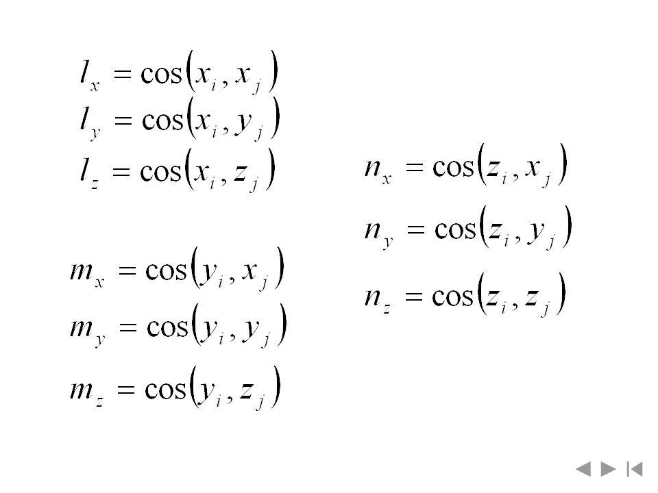 Macierz A i opisująca przekształcenia z układu i do układu i-1 będzie równa iloczynowi wyżej wymienionych macierzy ruchów elementarnych, czyli Zatem, po wykonaniu mnożeń macierzy zaczynając od prawej strony otrzymuje się