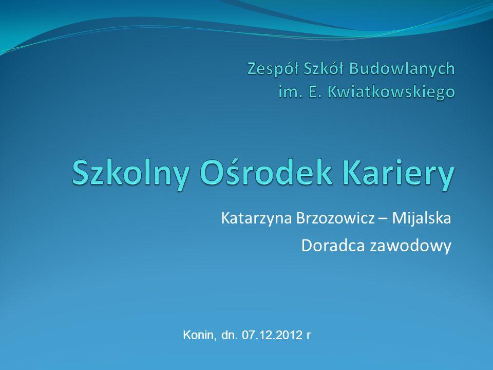 Katarzyna Brzozowicz – Mijalska Doradca zawodowy Konin, dn. 07.12.2012 r