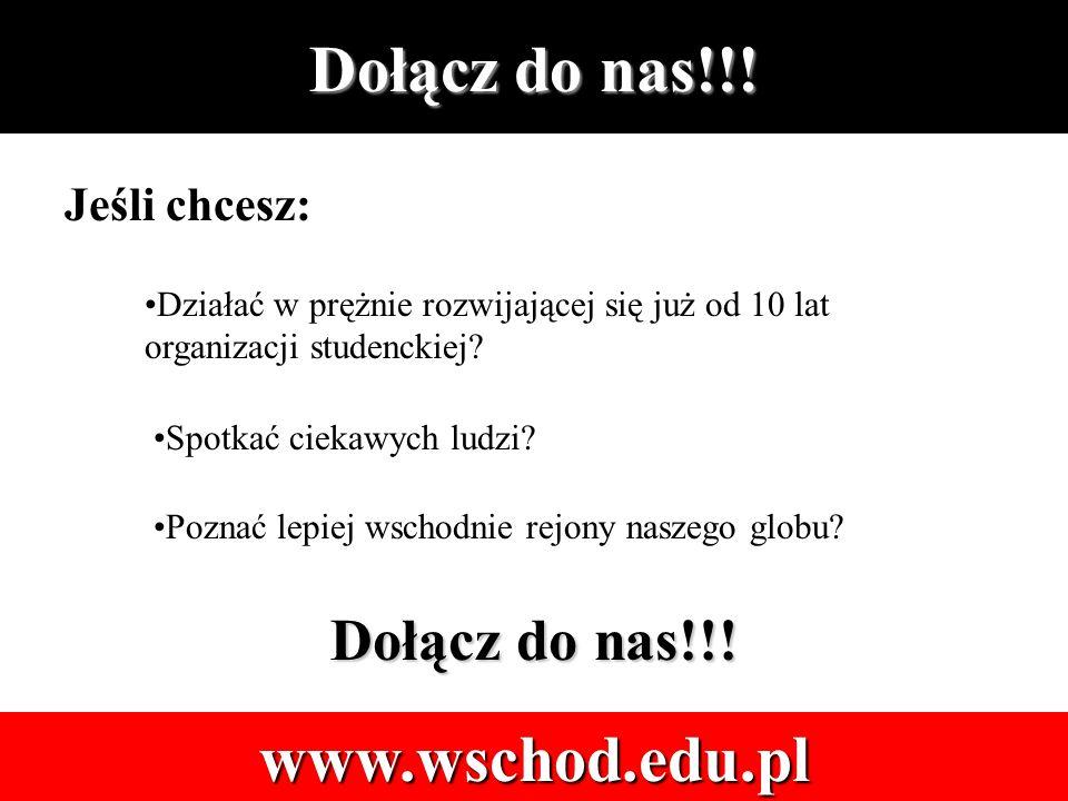 Dołącz do nas!!. www.wschod.edu.pl Jeśli chcesz: Spotkać ciekawych ludzi.