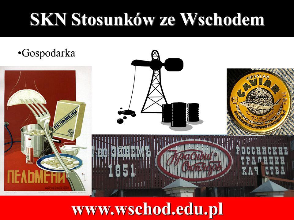 SKN Stosunków ze Wschodem www.wschod.edu.pl Gospodarka