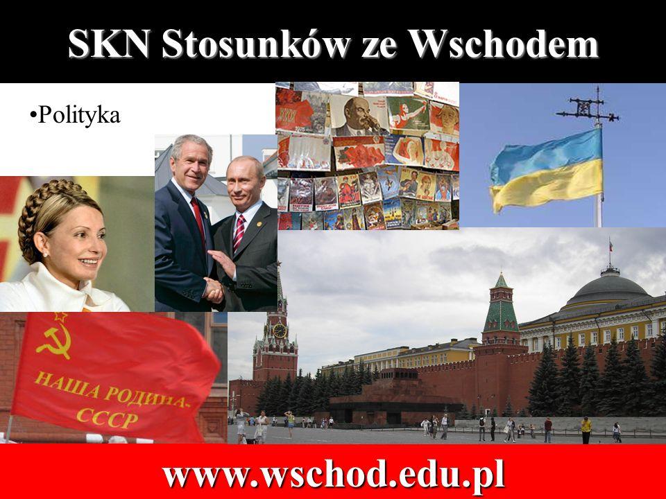 SKN Stosunków ze Wschodem www.wschod.edu.pl Polityka
