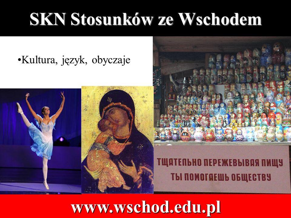 Kultura, język, obyczaje SKN Stosunków ze Wschodem www.wschod.edu.pl