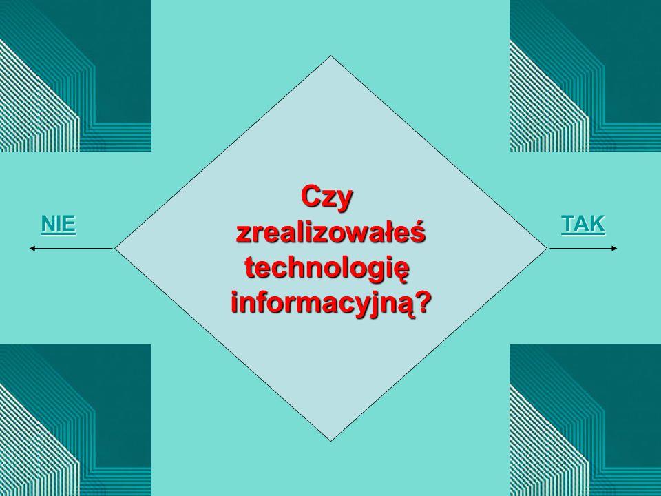 Czyzrealizowałeśtechnologięinformacyjną? NIE TAK
