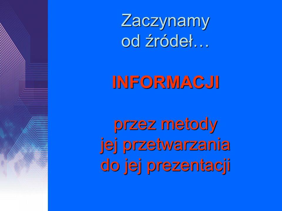 I.Źródła informacji i metody komunikacji II.Środki i narzędzia TI III.Opracowanie informacji w dokumencie tekstowym IV.Informacje w bazach danych V.TI w rozwiązywaniu problemów VI.Prezentacja informacji