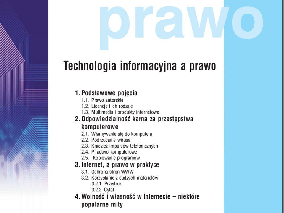 I.Przetwarzanie danych w bazach danych II.Publikacje w Internecie III.Algorytmika i programowanie – problemy zaawansowane IV.Projektowanie systemów informatycznych Część II podręcznika: