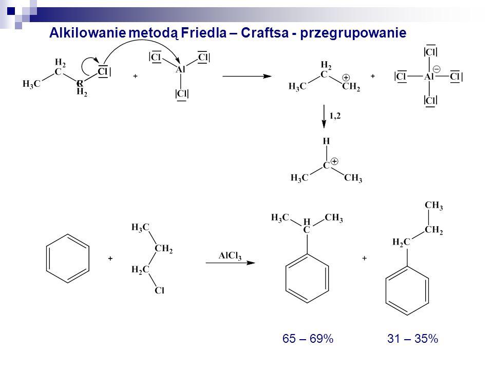 Alkilowanie metodą Friedla - Craftsa 34%66%