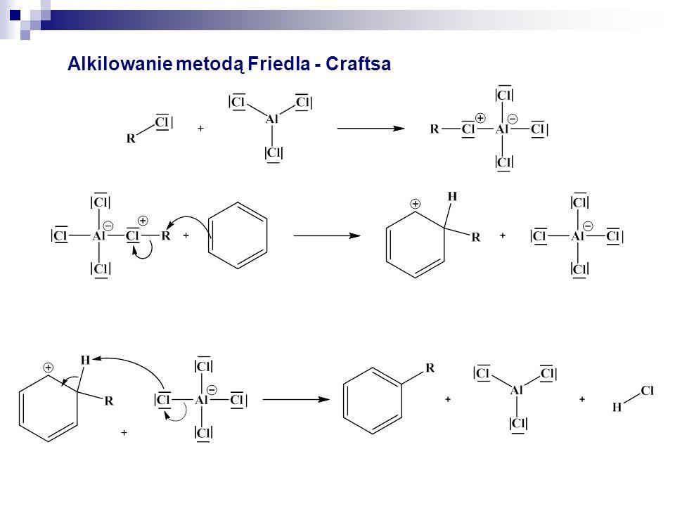 Alkilowanie metodą Friedla – Craftsa - przegrupowanie 31 – 35%65 – 69%