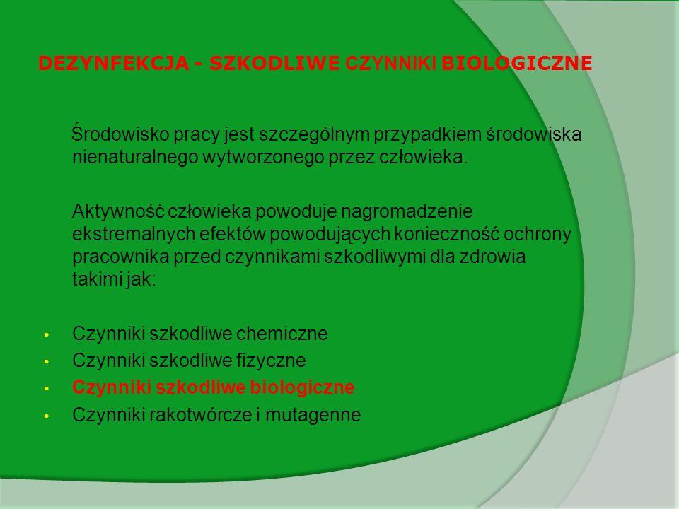 DEZYNFEKCJA - SZKODLIWE CZYNNIKI BIOLOGICZNE 7.