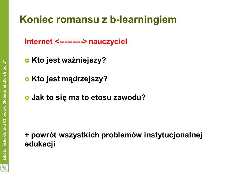 Szkoła Instruktorska Chorągwi Stołecznej Iluminacja Koniec romansu z b-learningiem Internet nauczyciel Kto jest ważniejszy? Kto jest mądrzejszy? Jak t