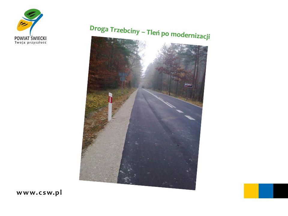 www.csw.pl Droga Trzebciny – Tleń po modernizacji
