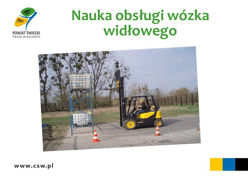 www.csw.pl Nauka obsługi wózka widłowego