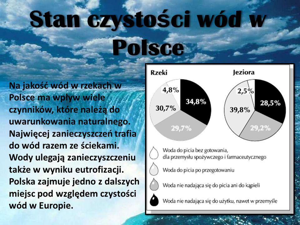 Na jakość wód w rzekach w Polsce ma wpływ wiele czynników, które należą do uwarunkowania naturalnego. Najwięcej zanieczyszczeń trafia do wód razem ze