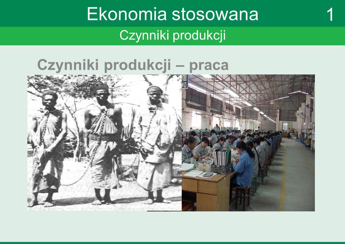 Czynniki produkcji Ekonomia stosowana Czynniki produkcji – praca 1