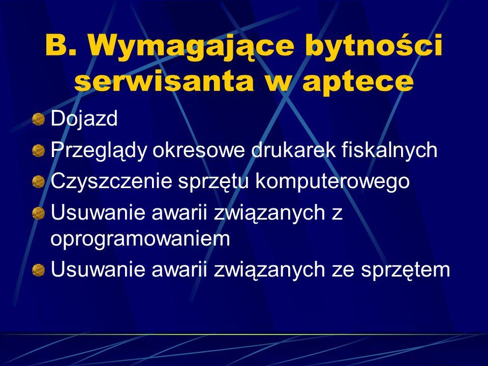 Apteki podłączone do internetu pracujące na wersji KS APTEKA Windows bardzo często same dokonują aktualizacji bazy KS- BLOZ, oraz czasem oprogramowania