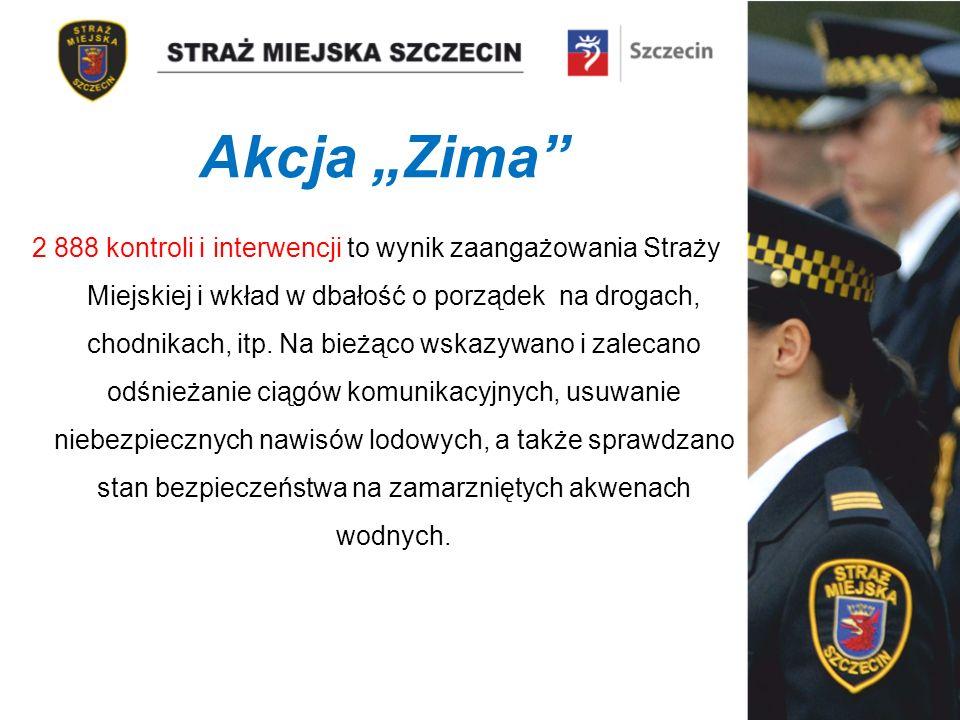 Akcja Zima 2 888 kontroli i interwencji to wynik zaangażowania Straży Miejskiej i wkład w dbałość o porządek na drogach, chodnikach, itp.