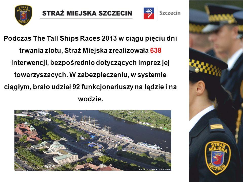 Podczas The Tall Ships Races 2013 w ciągu pięciu dni trwania zlotu, Straż Miejska zrealizowała 638 interwencji, bezpośrednio dotyczących imprez jej towarzyszących.