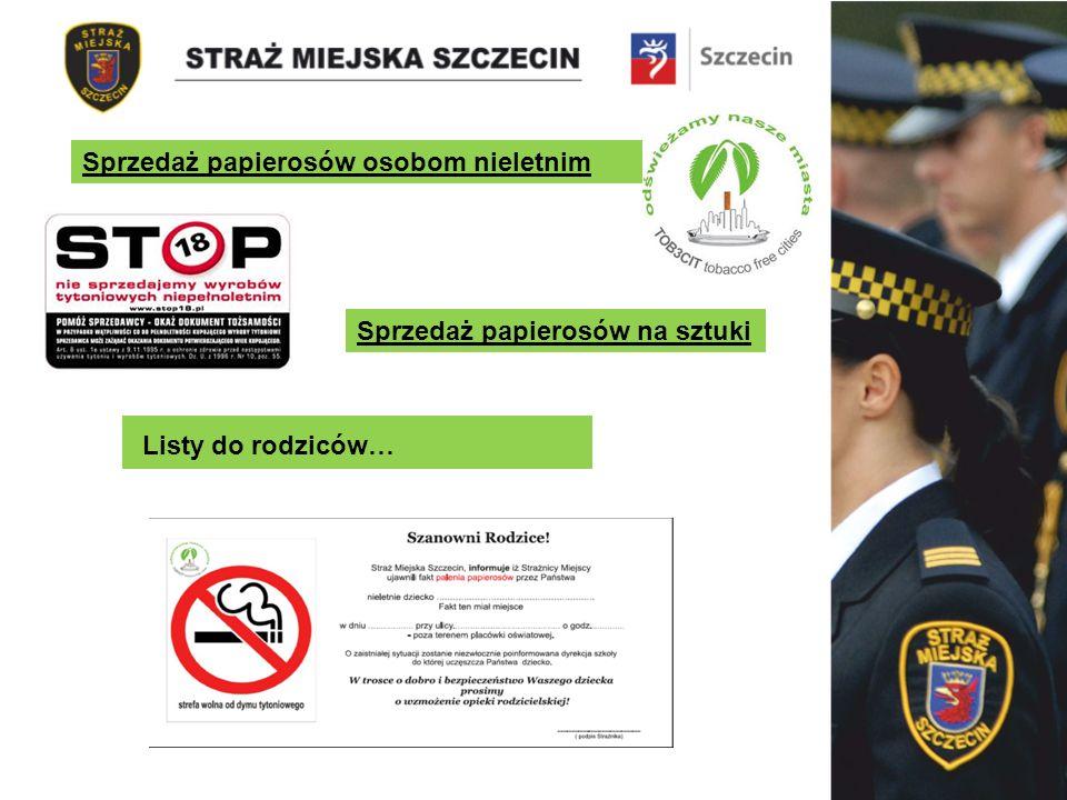 Sprzedaż papierosów osobom nieletnim Sprzedaż papierosów na sztuki Listy do rodziców…