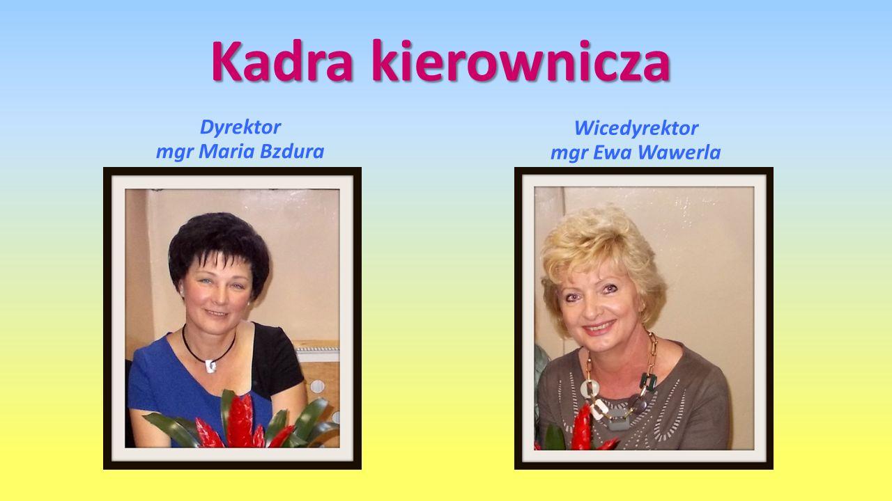 Kadra kierownicza Dyrektor mgr Maria Bzdura Wicedyrektor mgr Ewa Wawerla