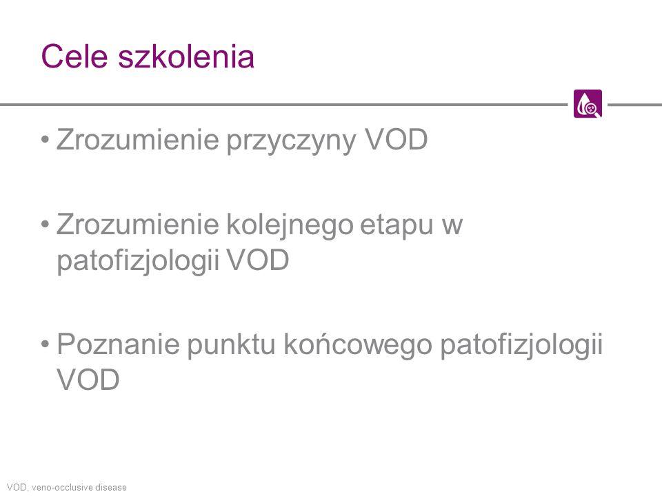 Cele szkolenia Zrozumienie przyczyny VOD Zrozumienie kolejnego etapu w patofizjologii VOD Poznanie punktu końcowego patofizjologii VOD VOD, veno-occlu