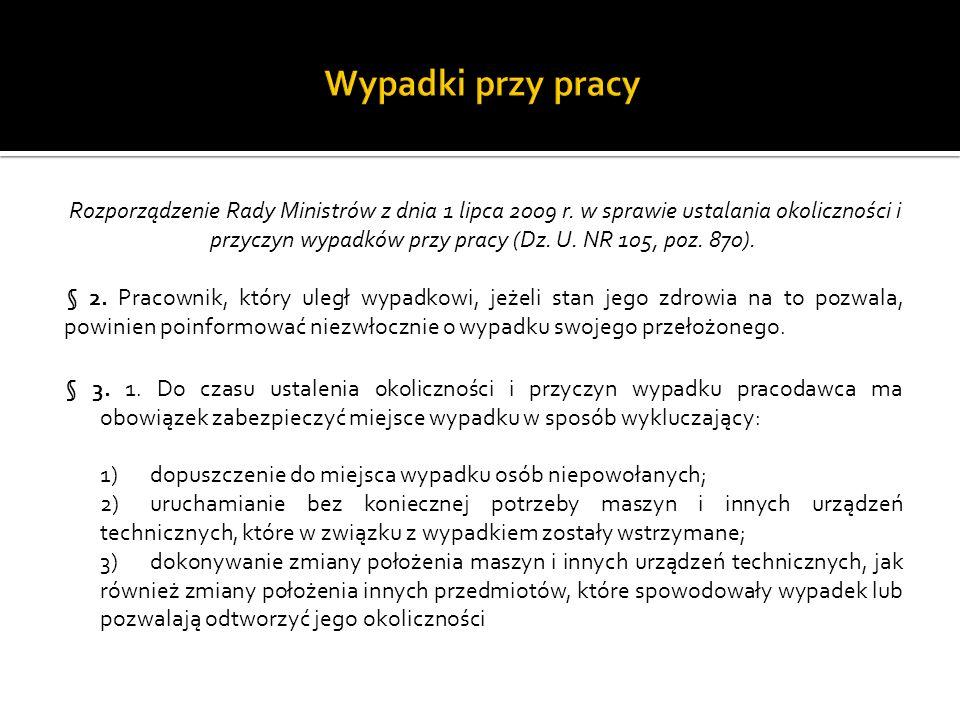 Rozporządzenie Rady Ministrów z dnia 1 lipca 2009 r.