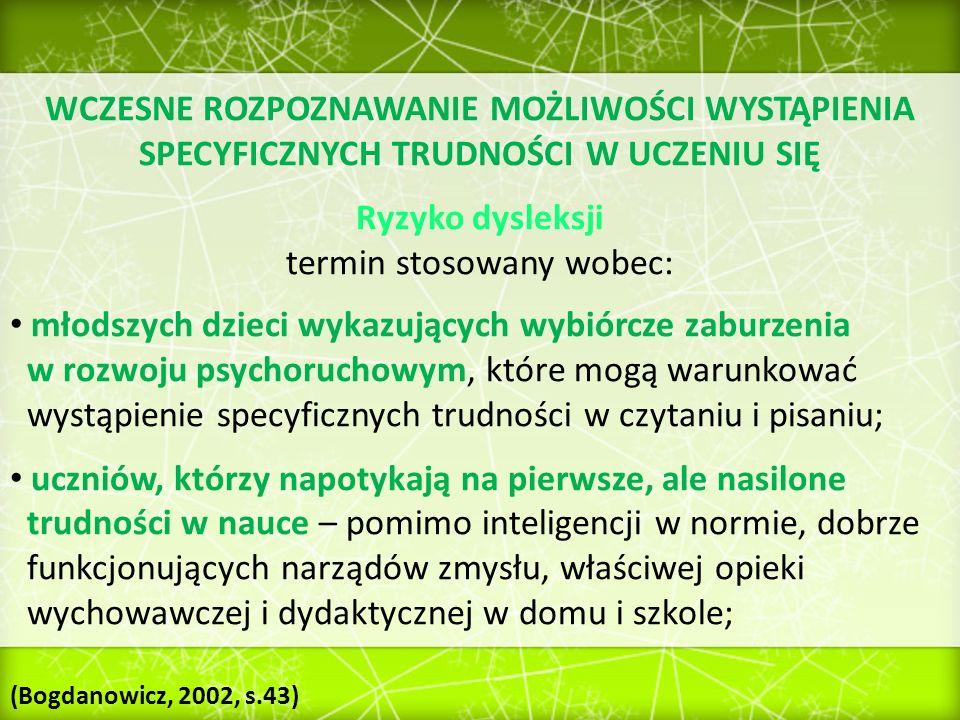 Skala Ryzyka Dysleksji (SDR) autorstwa M.