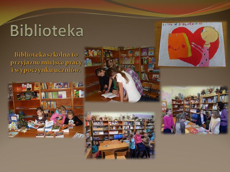 Biblioteka szkolna to przyjazne miejsce pracy i wypoczynku uczniów.