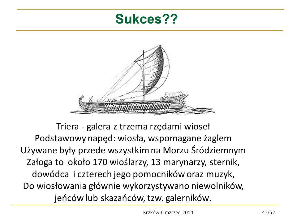 Kraków 6 marzec 201443/52 Sukces?.