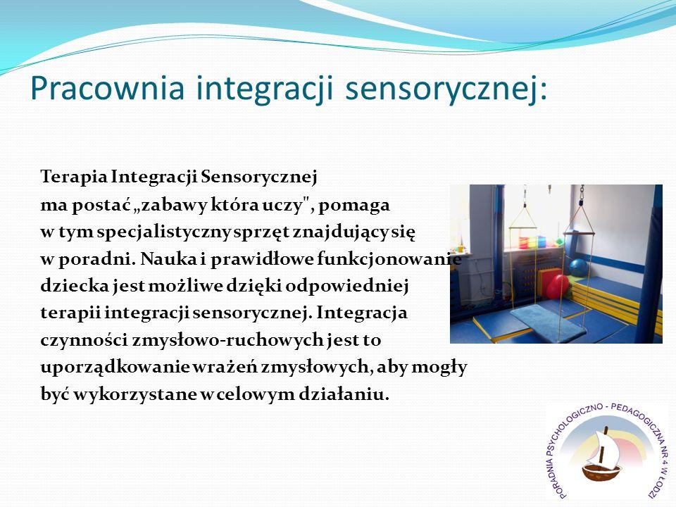 Pracownia integracji sensorycznej: Terapia Integracji Sensorycznej ma postać zabawy która uczy