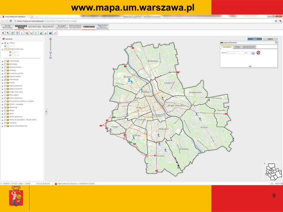 9 www.mapa.um.warszawa.pl