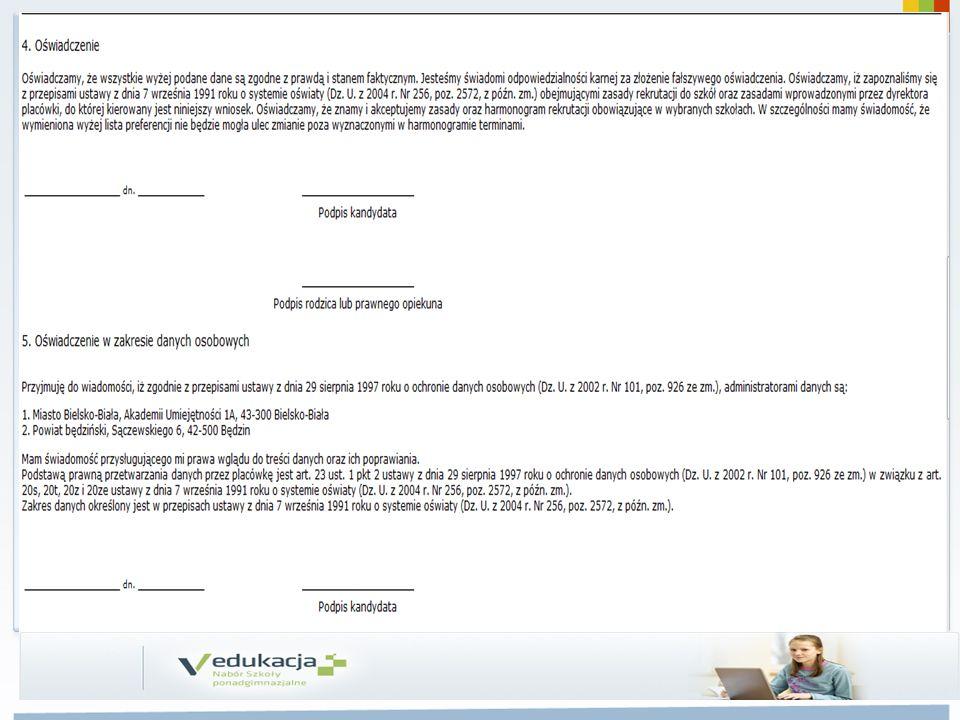 Dostarczanie wniosków oraz wymaganych dokumentów przez Kandydatów 12.05.– 25.06.2014 do 12.00