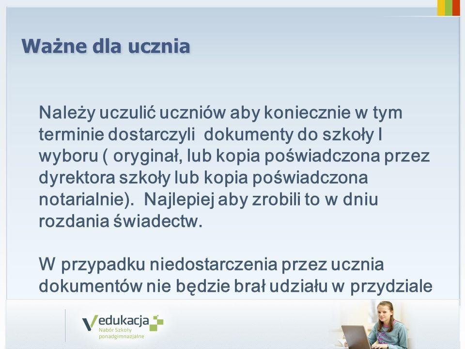 System publikuje rozdział miejsc w szkołach ponadgimnazjalnych 04.07.2014 r.