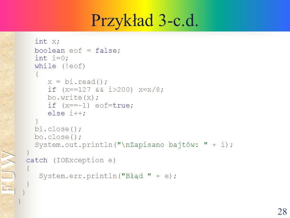 28 Przykład 3-c.d.