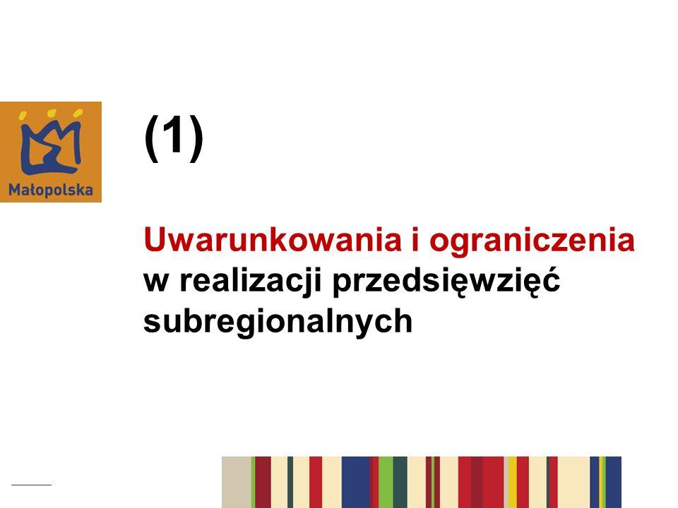 projekt Umowy Partnerstwa 2014-2020 + ustalenia w negocjacjach z Komisją Europejską projekt Regionalnego Programu Operacyjnego Województwa Małopolskiego 2014-2020 projekt linii demarkacyjnej określającej podział interwencji pomiędzy programami krajowymi i regionalnymi wymogi specyficzne dla danego typu projektów (zostaną określone w dokumentach wykonawczych) Z czego wynikają uwarunkowania i ograniczenia?