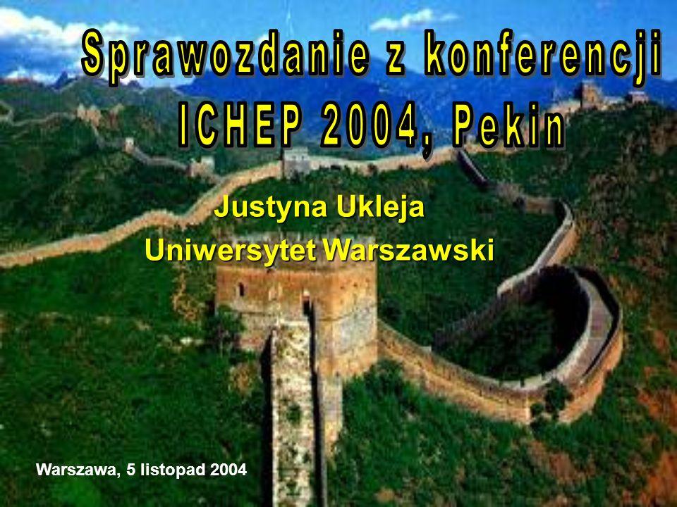 Justyna Ukleja Uniwersytet Warszawski Warszawa, 5 listopad 2004
