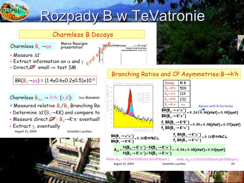 20 Rozpady B w TeVatronie