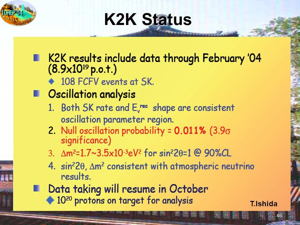 46 K2K Status T.Ishida