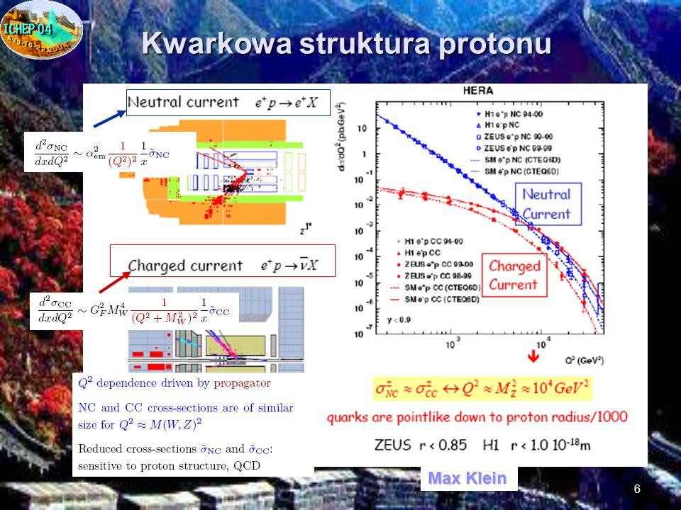 6 Kwarkowa struktura protonu Max Klein