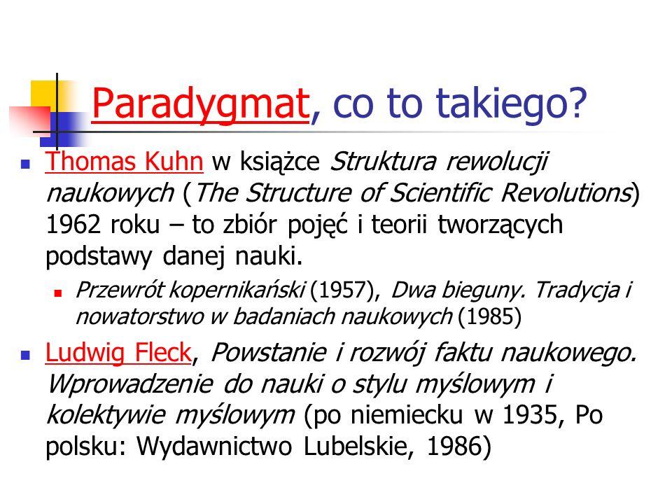 ParadygmatParadygmat, co to takiego? Thomas Kuhn w książce Struktura rewolucji naukowych (The Structure of Scientific Revolutions) 1962 roku – to zbió