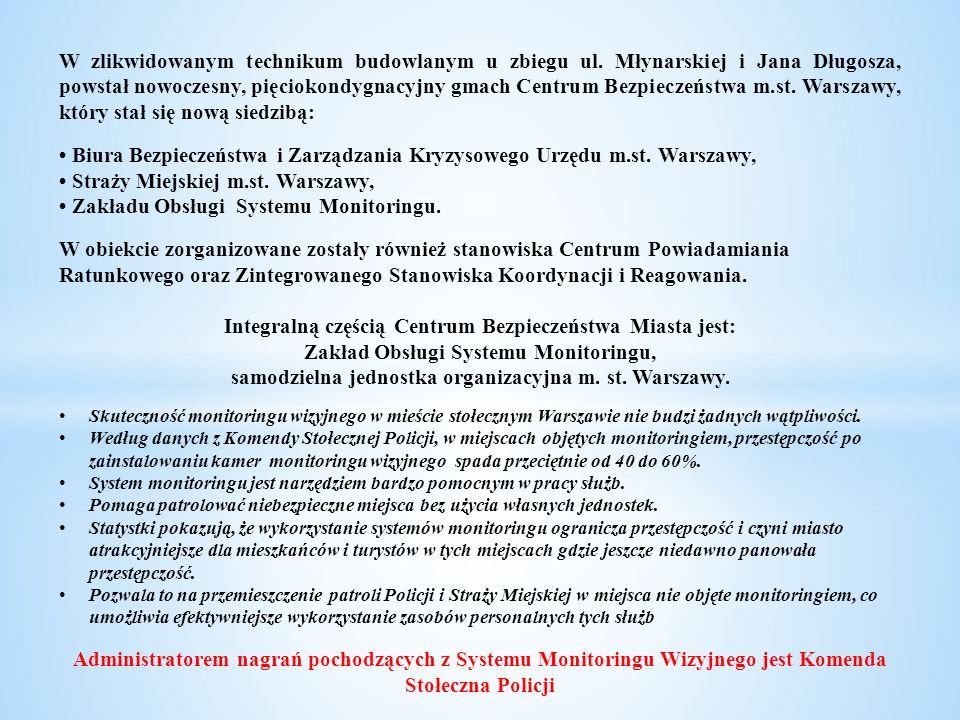 W Poznaniu w ramach monitoringu wizyjnego działa 395 kamer.