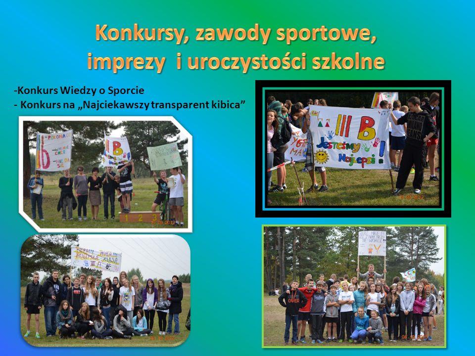 -Konkurs Wiedzy o Sporcie - Konkurs na Najciekawszy transparent kibica